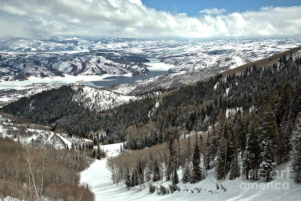 Photograph - Bald Mountain Skiing Views by Adam Jewell