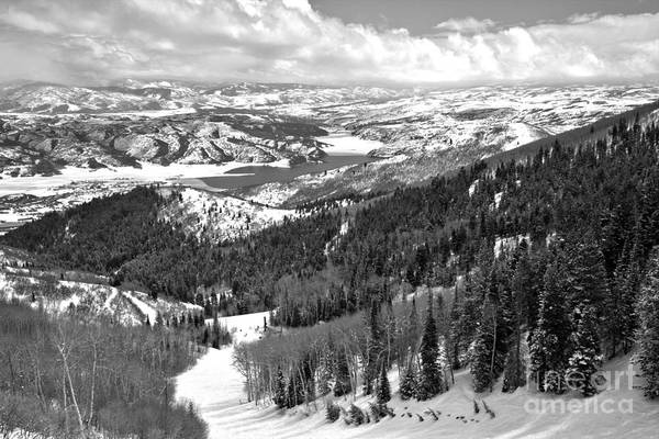 Photograph - Bald Mountain Skiing Views Black And White by Adam Jewell