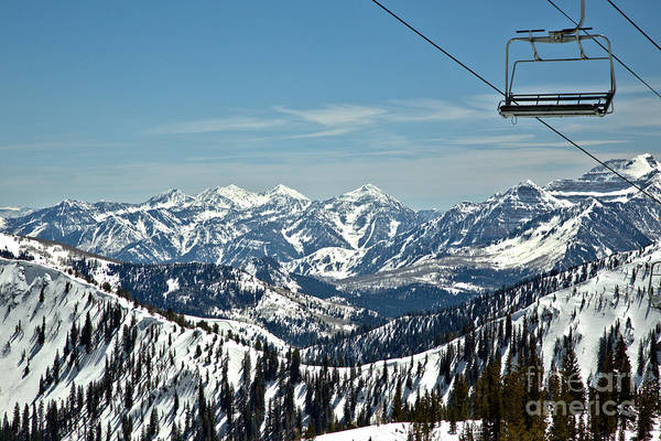 Photograph - Baldy Chair Over The Wasatch Mountains by Adam Jewell