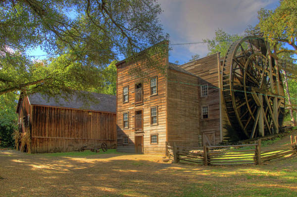 Camera Raw Photograph - Bales Grist Mill And Granary by Brenton Cooper