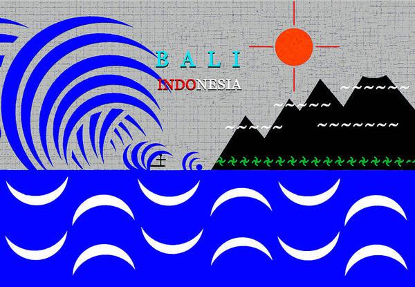 Wall Art - Digital Art - Bali Indonesia by David Lee Thompson