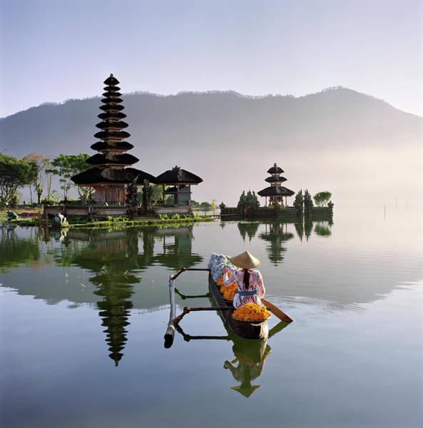 Photograph - Bali, Pura Ulun Danu Bratan Temple by Martin Puddy