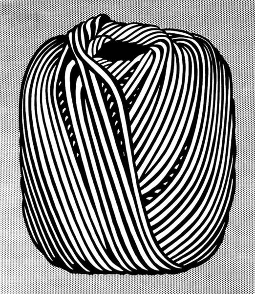 Photograph - Ball Of Twine  by Doc Braham - In Tribute to Roy Lichtenstein