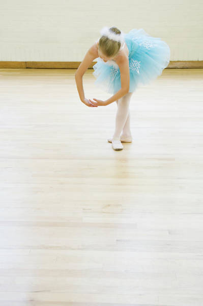 Learning Photograph - Ballerina  8-9 Dancing In Studio by Inti St. Clair