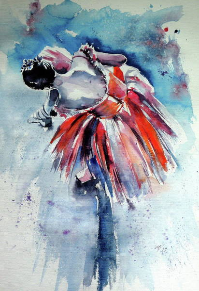 Wall Art - Painting - Ballerina Cd by Kovacs Anna Brigitta