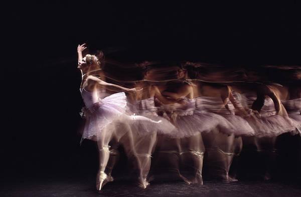Wall Art - Photograph - Ballerina Dancing Blurred Motion by Art Montes De Oca