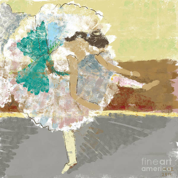 Wall Art - Digital Art - Ballerina In The Impressionist Style by Dmitriip