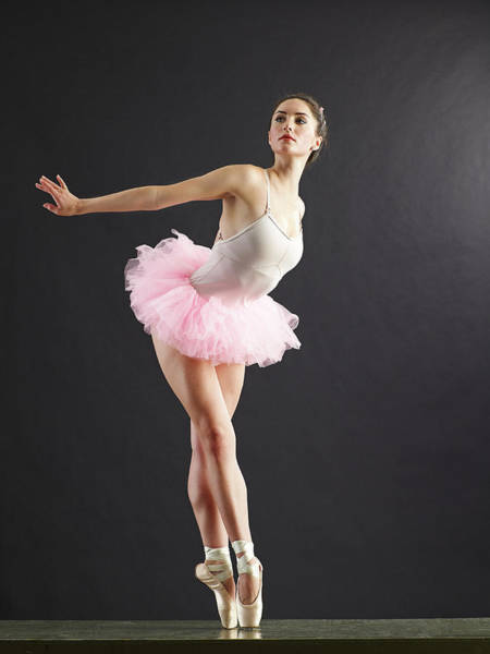 Little People Photograph - Ballerina On Point Looking Away by Blake Little
