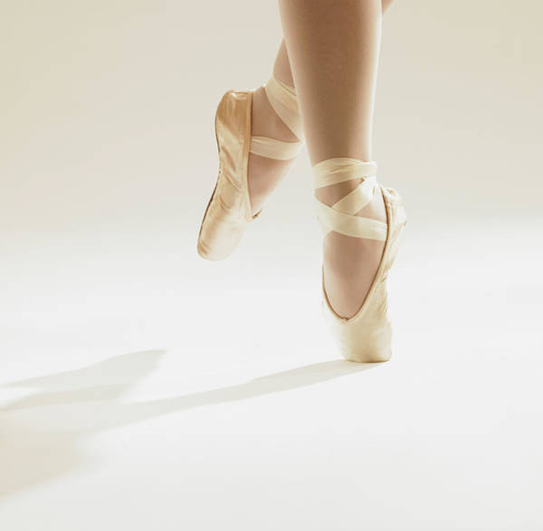 Dancing Water Photograph - Ballerina On Tip Toes, Close Up by Dougal Waters
