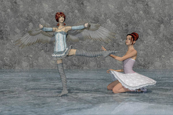 Wall Art - Digital Art - Ballerina Sisters by Betsy Knapp