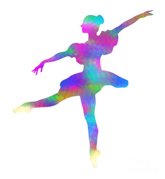 Digital Art - Ballerina Watercolor by David Millenheft
