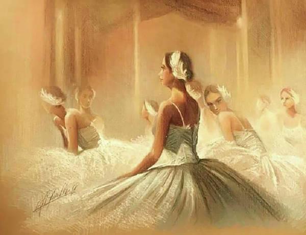 Sfumato Drawing - Ballerinas  by Richard Remblier