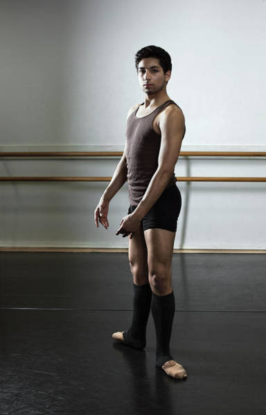 Practice Photograph - Ballet Dancer With Feet In Second by Patrik Giardino