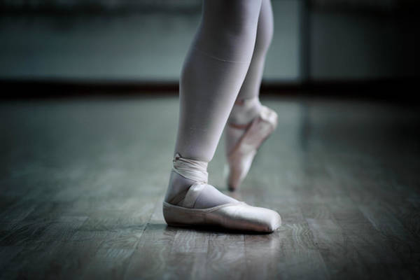 Adolescence Photograph - Ballet Feet by Oneclearvision