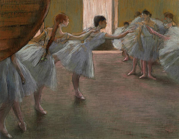 Wall Art - Painting - Ballet Rehearsal, 1875 by Edgar Degas