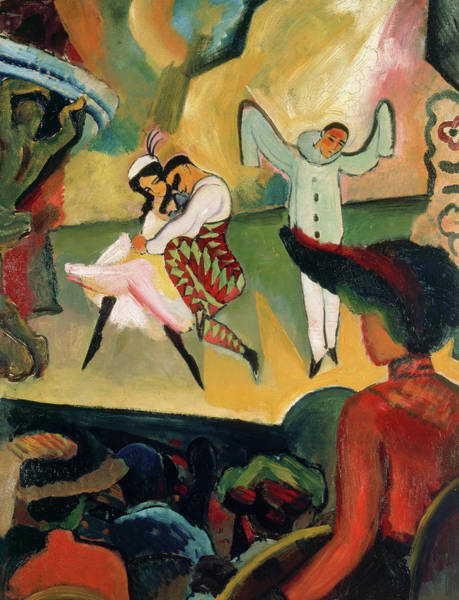 Wall Art - Painting - Ballet Russes I, 1912 by August Macke