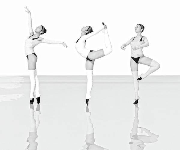 Wall Art - Digital Art - Ballet Trio by Betsy Knapp