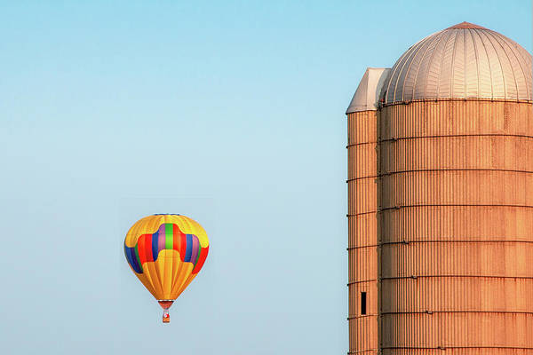 Silo Photograph - Balloon And Silo by Todd Klassy