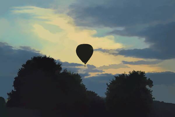 Digital Art - Balloon At Dusk by Scott Lyons