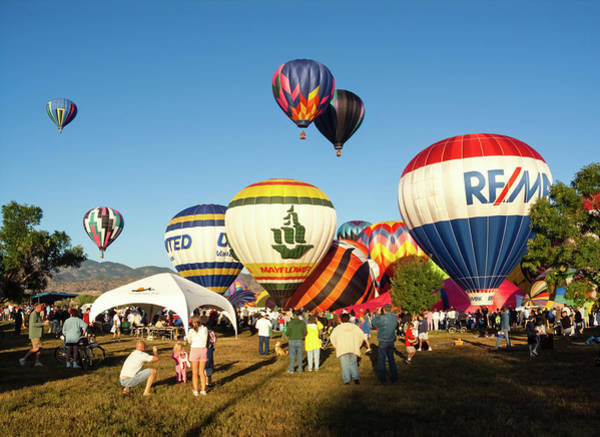 Wall Art - Photograph - Balloon Festival by Robert VanDerWal