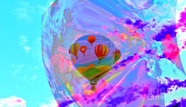 Wall Art - Photograph - Balloon In The Crazy Sky Abstract  by Jeff Swan