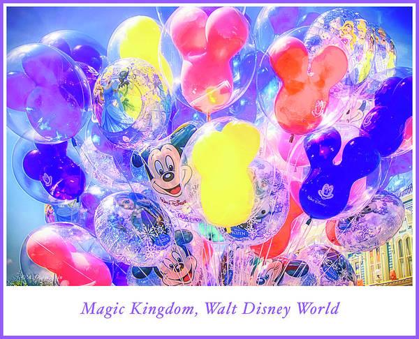 Photograph - Balloon Souvenirs, Magic Kingdom by A Gurmankin