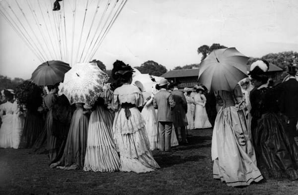 Spectator Photograph - Balloon Spectators by London Stereoscopic Company