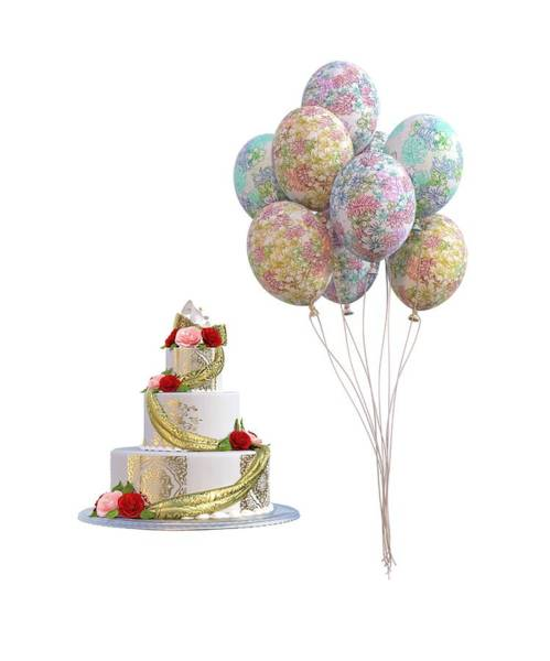 Wall Art - Digital Art - Balloons And Cake by Betsy Knapp
