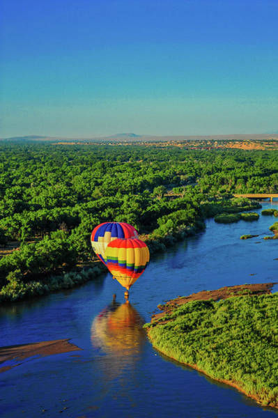 Wall Art - Photograph - Balloons And The Rio Grande by James Richardson