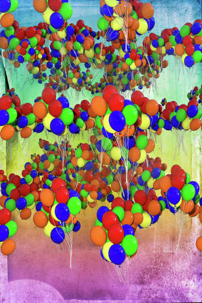 Wall Art - Digital Art - Balloons Everywhere by Betsy Knapp