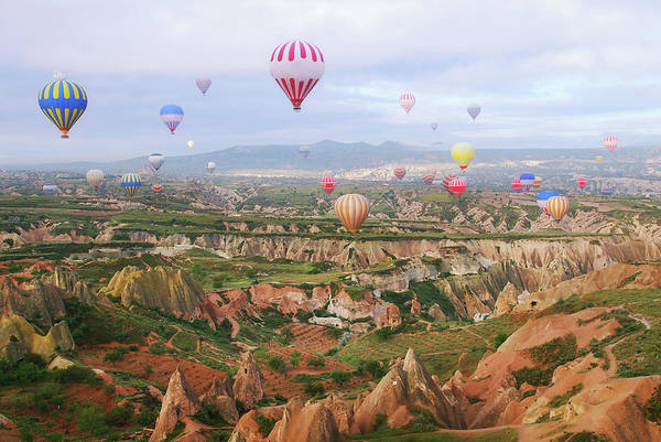 Cappadocia Photograph - Balloons In The Sky by Lilia Petkova