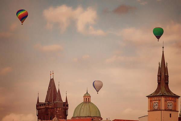 Wall Art - Photograph - Balloons Over Prague by Jan Fidler