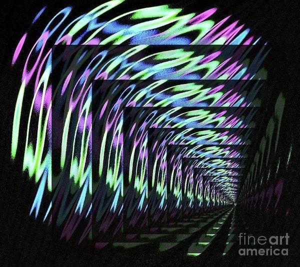 Wall Art - Digital Art - Balls, Glow, Tiled by Michael Wayne Gulliver