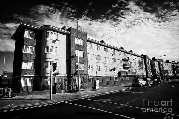 Wall Art - Photograph - Ballybough House Poplar Row Flats Dublin City Council Flats Dublin 3 Republic Of Ireland Europe Desi by Joe Fox