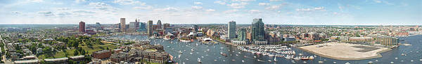 Wall Art - Photograph - Baltimore City Skyline And Iner Harbour by Greg Pease