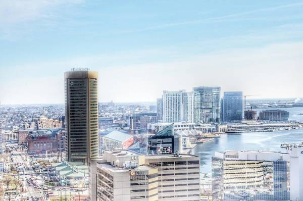 Photograph - Baltimore Inner Harbor Aerial Landscape, Maryland by Marianna Mills