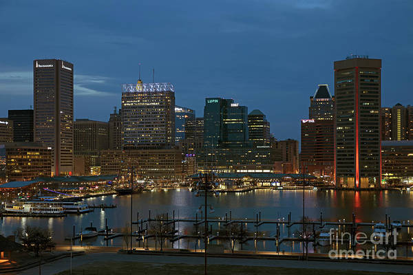 Wall Art - Photograph - Baltimore Inner Harbor And Downtown Skyline by Bill Cobb