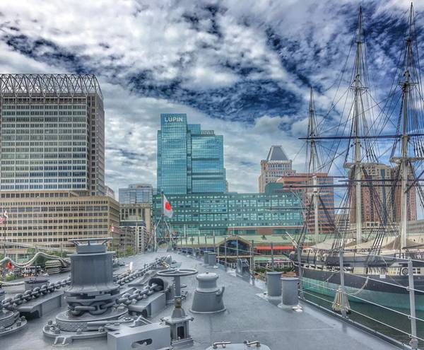 Photograph - Baltimore Landscape From The Japanese Maritime Self-defense Force Training Ship, Maryland by Marianna Mills