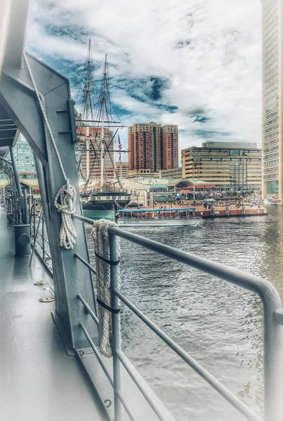 Photograph - Baltimore Landscape From The Japanese Maritime Self-defense Force Training Ship, Md by Marianna Mills