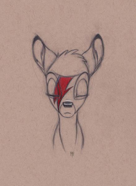 Wall Art - Drawing - Bambi Stardust by Alex Ruiz