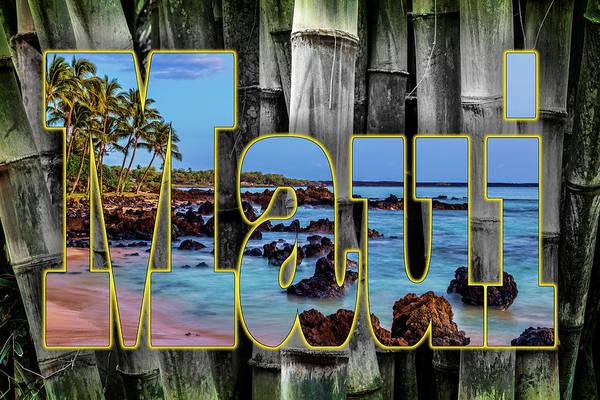 Wall Art - Photograph - Bamboo And Maui Graphic by Kelley King