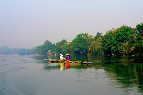 Raft Photograph - Bamboo Raft by Jim Simmen