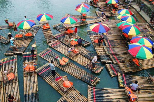 Raft Photograph - Bamboo Rafts by Jon Bratt