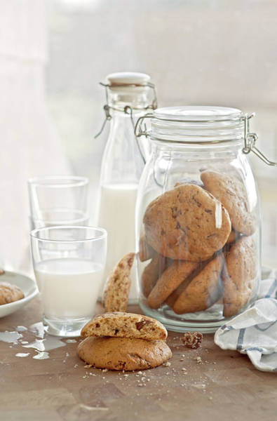 Jar Photograph - Banana Chocolate Chip Cookies by A.y. Photography
