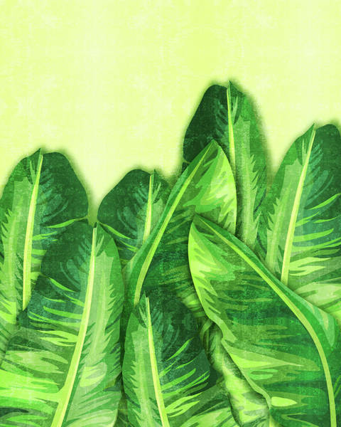 Olives Mixed Media - Banana Leaf 2 - Banana Leaf Pattern 2 - Tropical Leaf Print - Botanical Art - Green by Studio Grafiikka