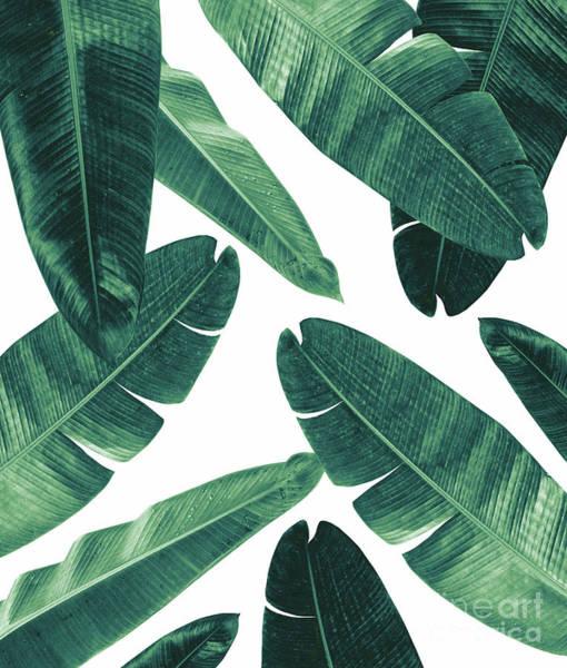 Banana Leaf Mixed Media - Banana Leaves - Cali Vibes #2 #tropical #decor #art  by Anitas and Bellas Art