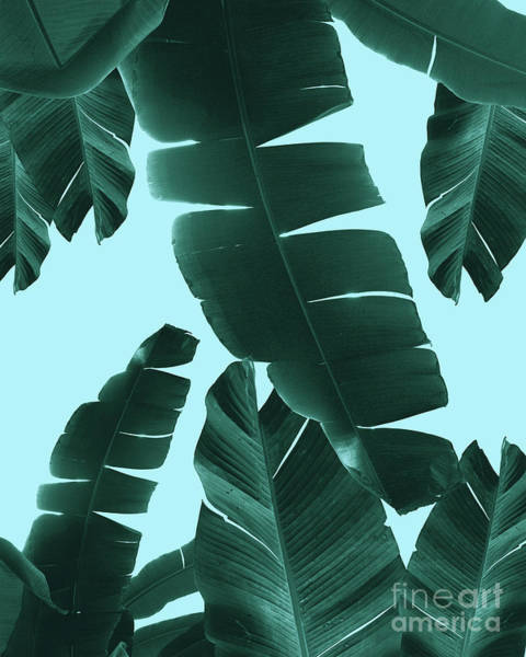 Banana Leaf Mixed Media - Banana Leaves Summer Vibes #3 #tropical #decor #art by Anitas and Bellas Art