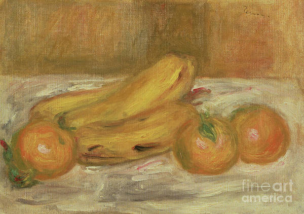 Wall Art - Painting - Bananas And Oranges, Circa 1913 by Pierre Auguste Renoir
