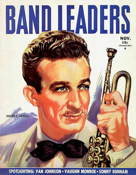 Trumpet Mixed Media - Band Leaders Harry James, 1931 Poster by Zal Latzkovich