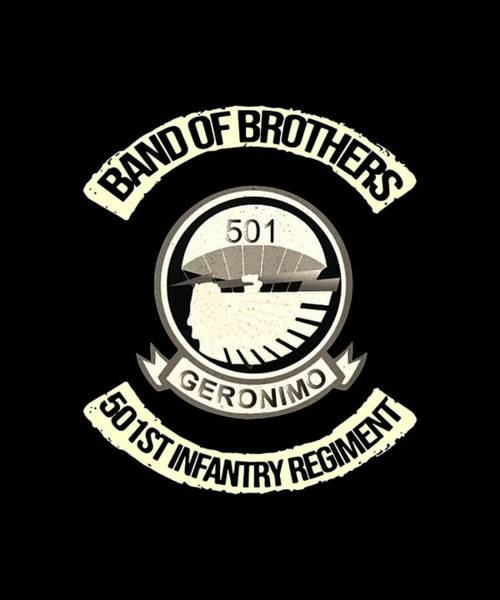 Cajal Wall Art - Digital Art - Band Of Brothers 501 Geronimo 50 First Infantry Regiment Science by Dominic Wolinski